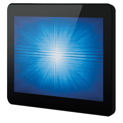 Tablet device with a blue screen